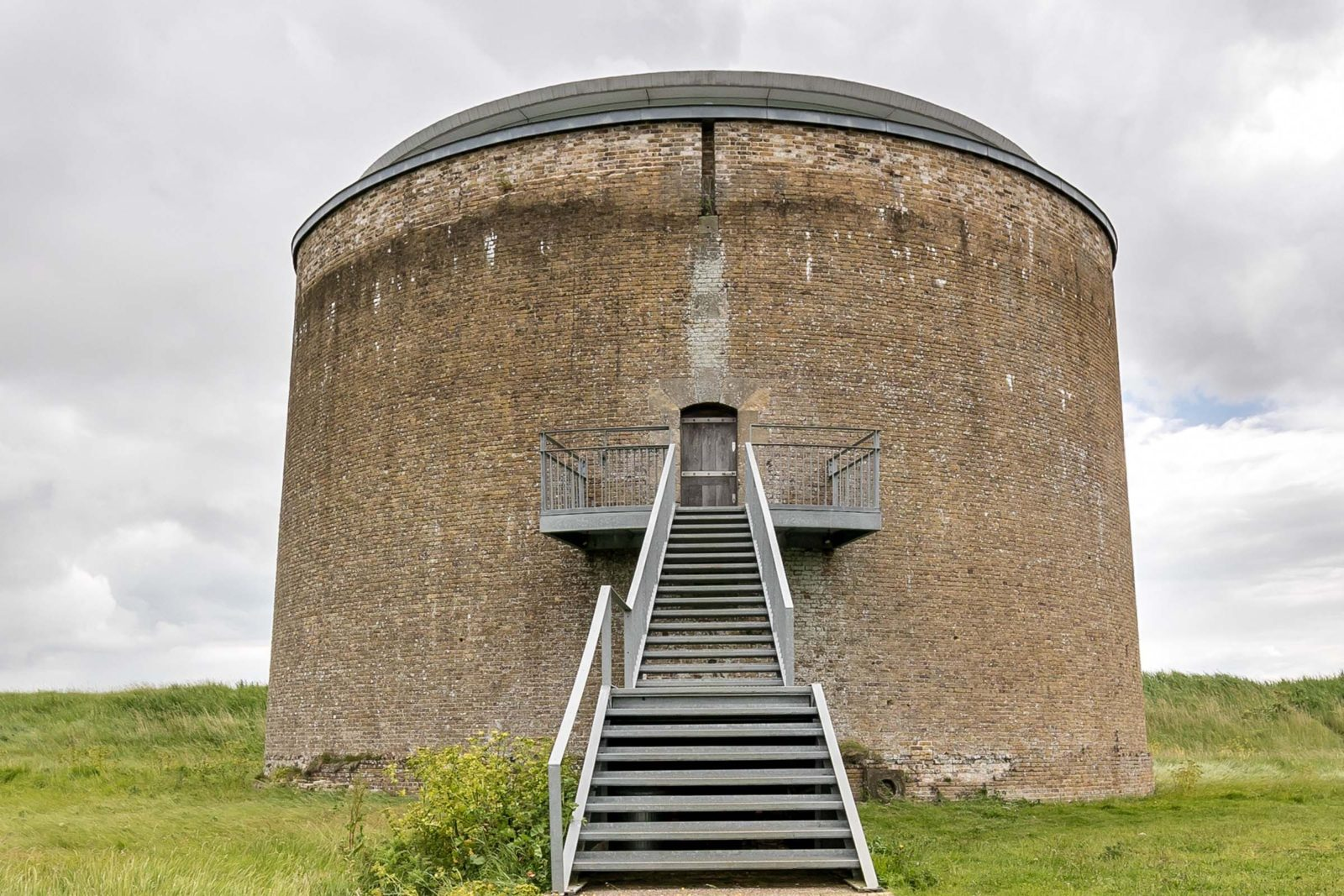 Martello tower y bawdsey suffolk today at the modern house step